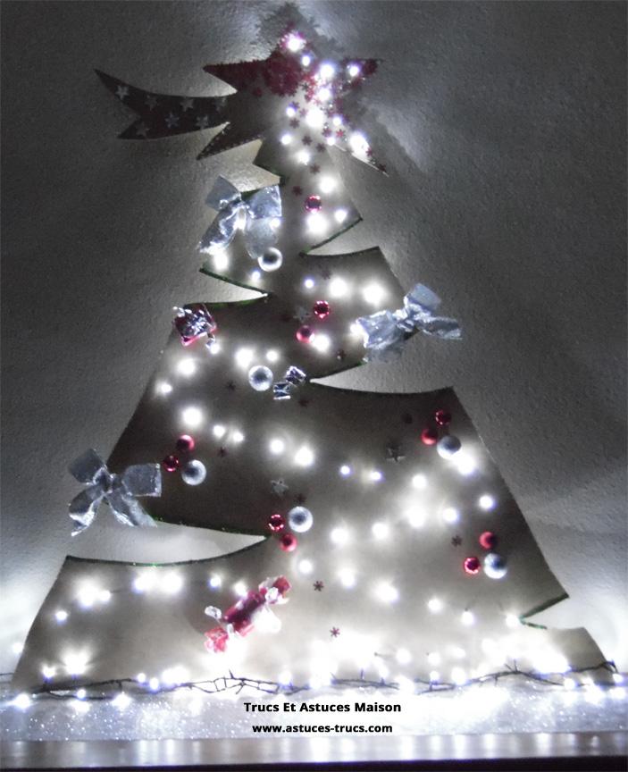 Fabriquer un sapin de Noël déco fait maison - Trucs et Astuces Maison